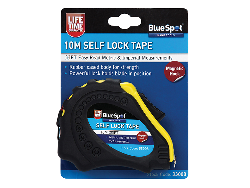 BlueSpot 10 m 33 FT Self Locking Tape 33008 Magnetic tip