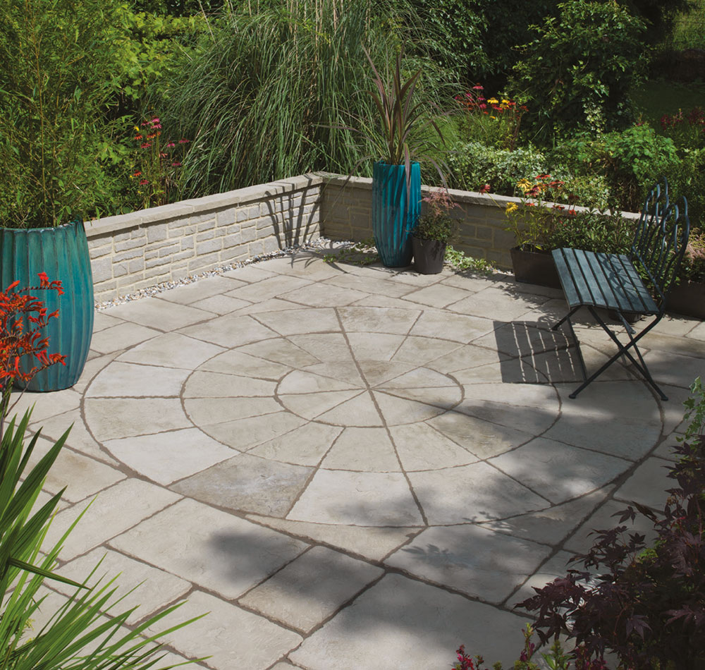 Delivery Included* Bradstone   Old Town Paving   Grey Green   Circles
