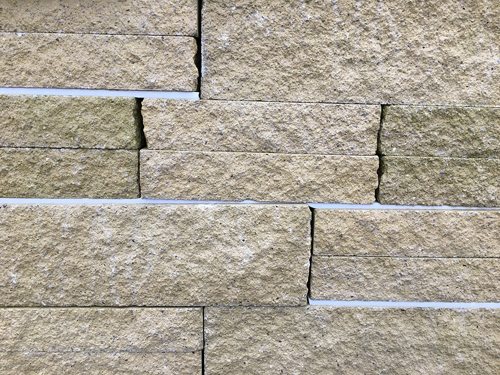 Stone Face Block : Buff split face walling blocks multiple sizes lsd