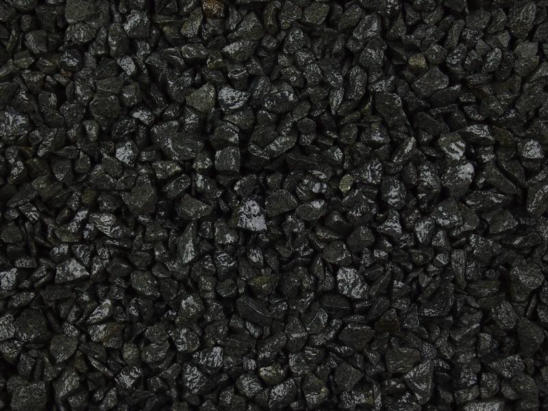 Black Decorative Stone : Black granite chippings mm choice of aggregates at