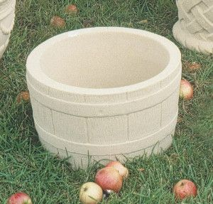 Small Barrel Stone Planter