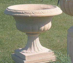 Tall Drayton Stone Vase