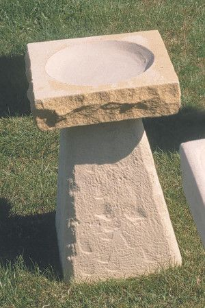 New Stone Bird Bath
