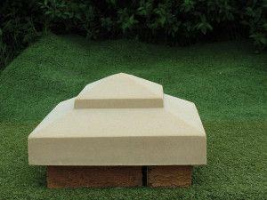 "15"" Pointed Stone Pillar Cap"