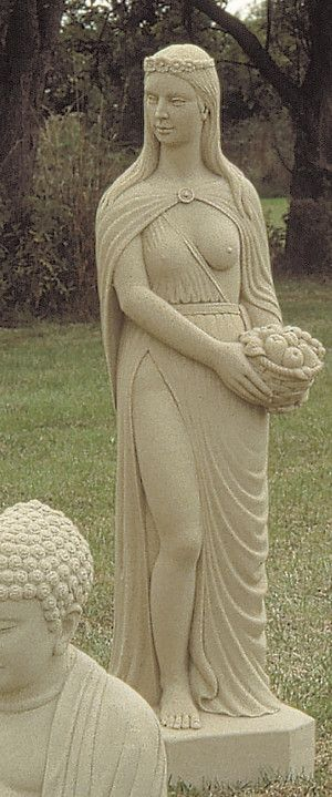 Saxon Woman Stone Statue