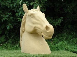 Large Horses Stone Head