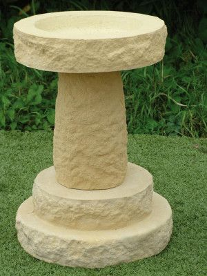 Mill Stone Bird Bath