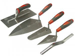 Faithfull Soft Grip Handle Trowel Pack 5 Piece