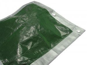 Faithfull, Tarpaulins Green / Silver