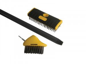 Roughneck Patio & Decking Brush Set, 3 Piece