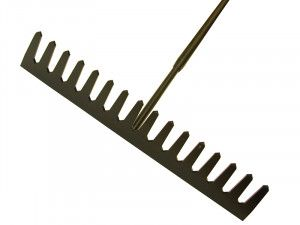 Roughneck Asphalt Rake 16 Flat Teeth - Tubular Steel Shaft Handled
