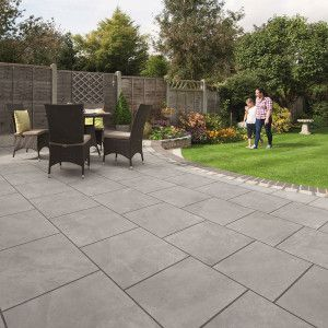 Marshalls Arrento Vitrified Paving - Silver - Patio