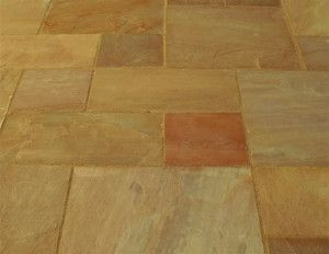 Castacrete - Indian Sandstone Paving - Autumn Brown - Patio Pack - Calibrated