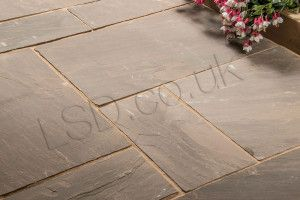Indian Sandstone Paving - Autumn Brown - Patio Pack - Calibrated