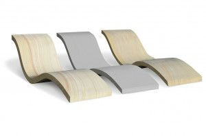 Stonemarket - Avant Garde Chaise Lounge - Silver, Imperial, and Caramel