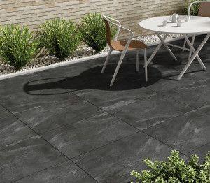 Porcelain Paving - Black Limestone Effect - Single Sizes