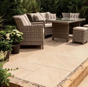 Bradstone - Aspero Porcelain Collection - Beige - Patio Pack