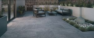 Bradstone - Aspero Porcelain Collection - Dark Grey - Patio Pack