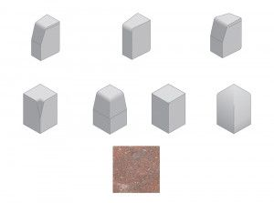 Bradstone - Large Block Kerbs Accessories - Brindle - Internal, External, Radius, Angle