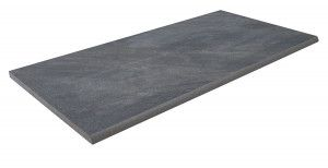 Bradstone - Mode Porcelain Riven - Step Tread - Dark Grey - 900 x 450mm