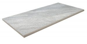 Bradstone - Mode Porcelain Riven - Step Tread - Silver Grey - 900 x 450mm