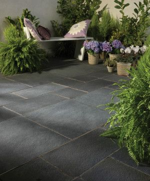 Bradstone - Natural Limestone Paving - Blue Black - Single Sizes