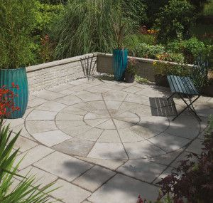 Bradstone - Old Town Paving - Grey Green - Circles