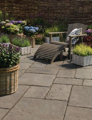Bradstone - Old Town Paving - Dark Grey - Patio Pack
