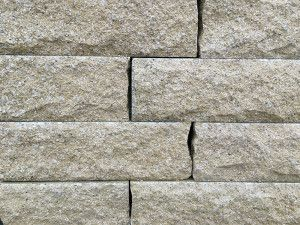 Pitched Face Walling Blocks - Buff