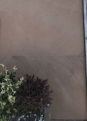 Indian Sandstone Paving - Polished Caramel Beige