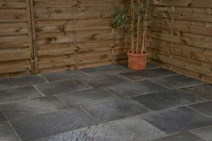 Castacrete - Steel Grey Slate Paving - Patio Pack