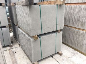 Thick Paving Slabs (Council) - Pressed Concrete - Grey