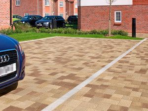 Marshalls - Concrete Driveway Block Paving - Drivesett Coppice - Oak Blend