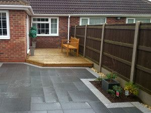 Natural Granite Paving - Dark Grey - Patio Pack