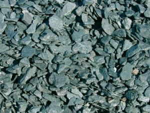 Green Slate Chippings - 20mm