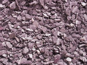 Plum Slate Chippings - 20mm