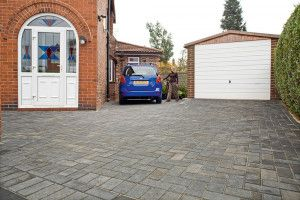 Marshalls - Concrete Driveway Block Paving - Driveline 50 - Pewter Multi