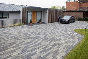 Marshalls - Concrete Driveway Block Paving - Driveline Metro - Dark Grey