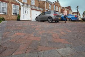 Marshalls - Concrete Driveway Block Paving - Driveline Nova Smooth - Brindle