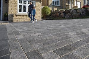 Marshalls - Concrete Driveway Block Paving - Driveline Nova Coarse - Pebble Grey