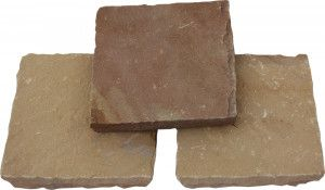 Global Stone - Pathway Setts - Modak Rose - 150 x 150mm