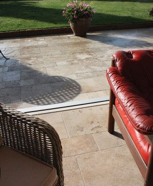 Global Stone - Travertine Collection - Antiqued Warm Walnut Paving - Single Sizes