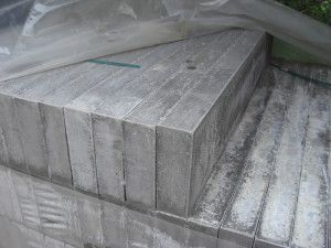 Thick Flat Top Edging - Pressed Concrete - Grey