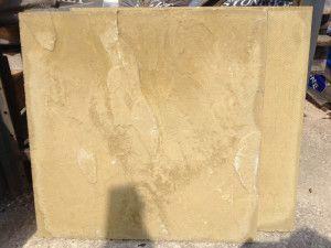 Cheap Paving Slabs - Riven - Buff - 600 x 600mm