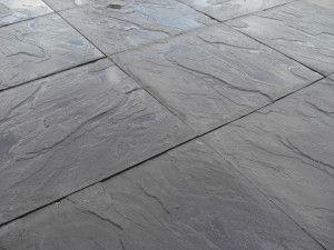 Cheap Paving Slabs - Riven - Black - 450 x 450mm