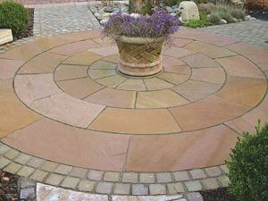 Indian Sandstone Paving - Modak - Circles