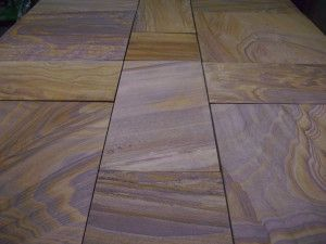 Indian Sandstone Paving - Polished Rainbow - Patio Pack