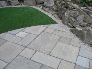 Indian Sandstone Paving - Tumbled - Raj Green - Patio Pack