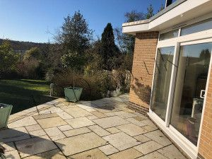 Indian Limestone Paving - Sandur Yellow - Patio Pack - Sawn Edge