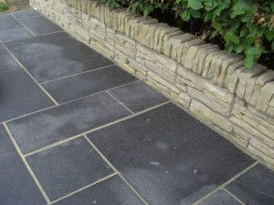 Indian Limestone Paving - Sawn Midnight - Calibrated - Patio Pack